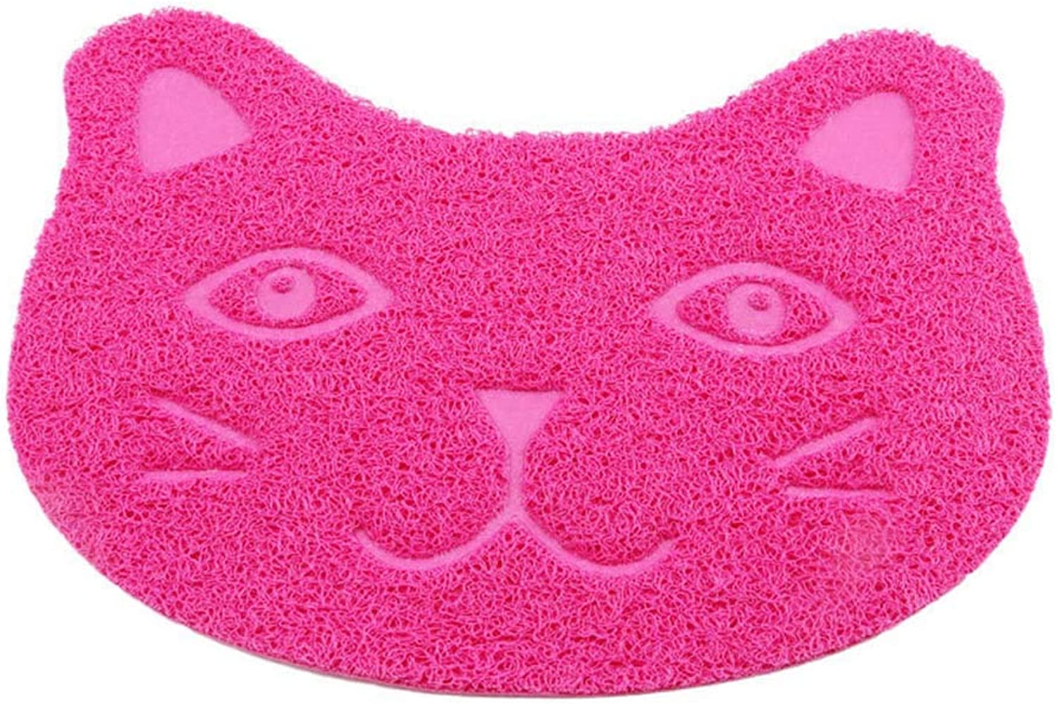 Cat Litter Mat,Pet Placemat, Kitty Litter Rug, Large Pad,Dog Feeding Mat,Doormat, Washable PVC NonSlip Easy Clean Predect Floor Cat Face2