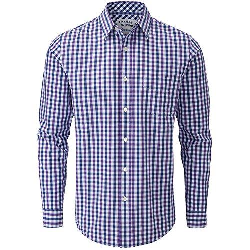 Charles Wilson Originals Casual Overhemd met Gingham-ruit en Lange Mouwen voor Mannen