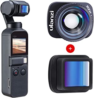 ULANZI OSMO Pocket 1.15X Anamorphic Lens + Upgraded Wide Angle Lens Kit, 4K HD Video Quality, Filmmaking Widescreen Movie ...