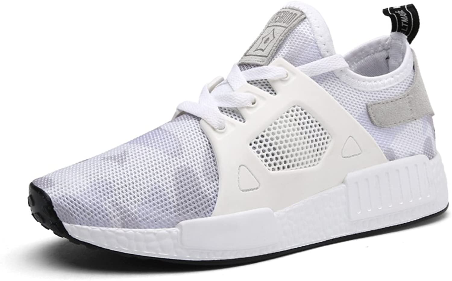 Bhujfufgv Sport shoes Breathable Mesh shoes Flat Casual shoes Thick Soles and Running shoes Nude shoes