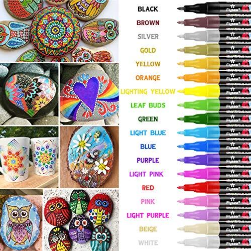 Rotuladores de pintura acrílica RATEL 18 colores Prima Impermeable Permanente...