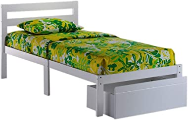 Night & Day Furniture Bed-to-Go White Finish Bed Frame, Twin