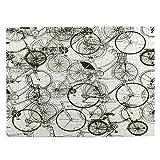 Puzzles de 500 pièces pour adultes en bois - 51,8 x 38,1 cm - Motif abstrait de vélos sans couture - Pour garçons et filles - Cadeau idéal pour personnes âgées