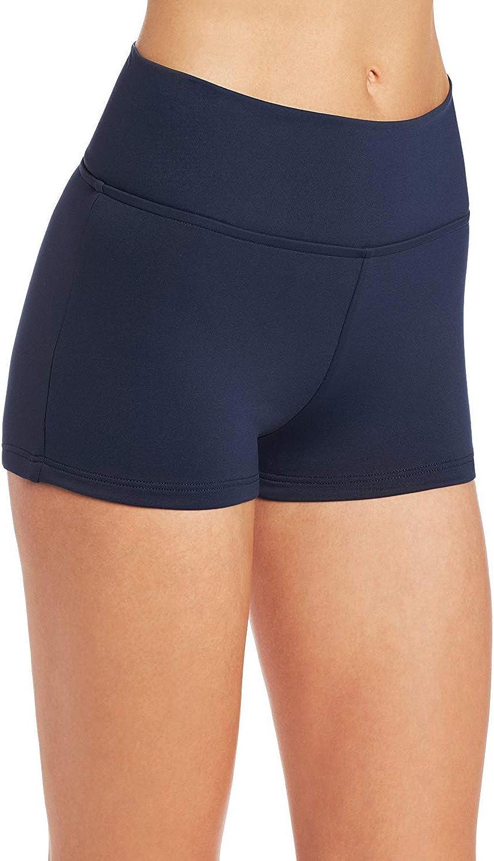 Seafolly Women's High Waisted Roll Top Boyleg Bikini Bottom Swimsuit