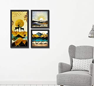 Go Hooked Digital Printed Framed Nature Wall Art Painting for Living Room, Bedroom, Office, Hotel, Dining Room, Bar (Frame...