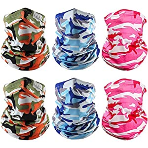 X-CHENG Scarf Balaclava Mask-Neck Gaiter Scarf Mask Sunscreen Breathable Bandanas mask