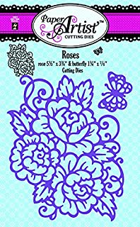 Roses Cutting Die Set by Hot Off The Press   2-Piece Set of Beautiful Cutting Dies Featuring a Large Rose Spray and a Darling Butterfly