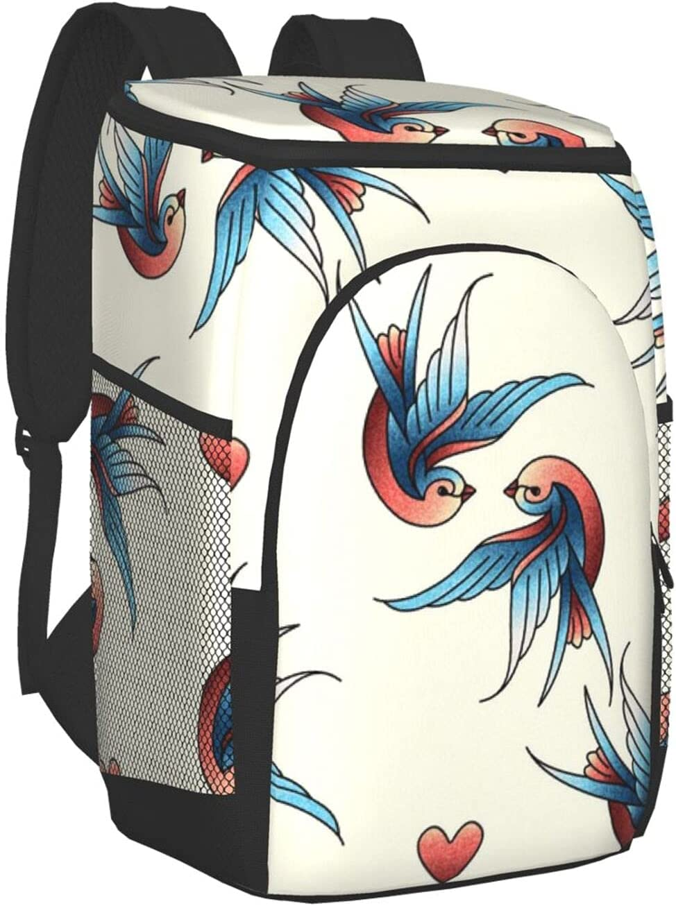 5 ☆ very popular Love New York Mall Birds Cooler Backpack Insulated Soft Bag Leakproof B