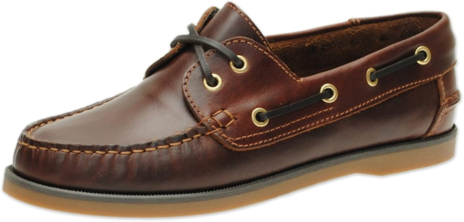 Jim Boomba Boat shoes - Deck shoes Classic Style - Mahogany Brown