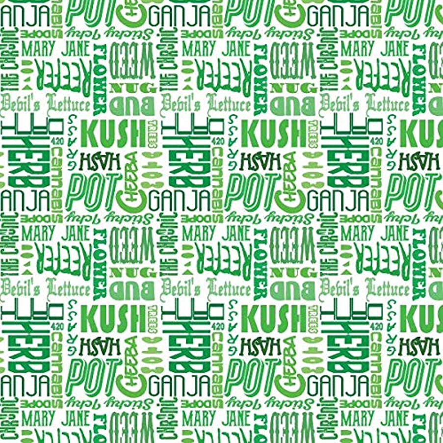 Gift Wrapping Paper Sheet, Marijuana Theme, Marijuana Terms Pattern, 1 Sheets - 7.5 sq. ft
