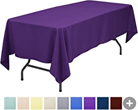 Sunnolimit Rectangle Tablecloth - 60 x 102 Inch - Purple Rectangular Table Cloth for 6 Foot Table in Washable Polyester - Great for Buffet Table, Parties, Holiday Dinner, Wedding & More