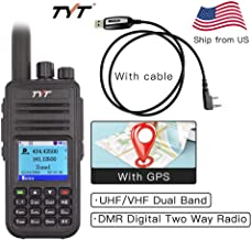 TYT MD-UV380 with GPS VHF/UHF 136-174Mhz/400-480Mhz Dual Band Handheld Two Way Radio + Programming Cable