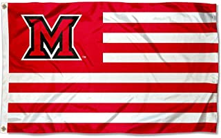 Miami Redhawks Stars and Stripes Nation Flag