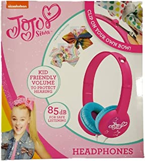 JoJo Siwa Clip Your Own Bow Kid Friendly Headphones