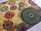 Chakra 2 alfombra de área piso alfombra de poliéster súper absorbente ecológico látex antideslizante alfombras dormitorios salón invernadero casa decoración juego Mat 150x80 cm