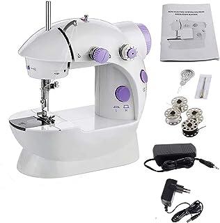 Mini Máquina de Coser Equipado con iluminación y cortador de hilo con Gran Mesa de Costura, Herramienta Manual Puntada Rápida para Tela, Ropa o Tela de Niños