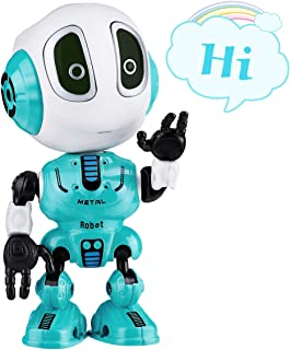 SnowCinda Toys for 4-6 Year Old Boys or Girls Toys, Metal Talking Robots for Kids with Cool Sound & Touch Sensitive LED Eyes Flexible Body, Best Gifts for 3-10 Boys or Girls Toys