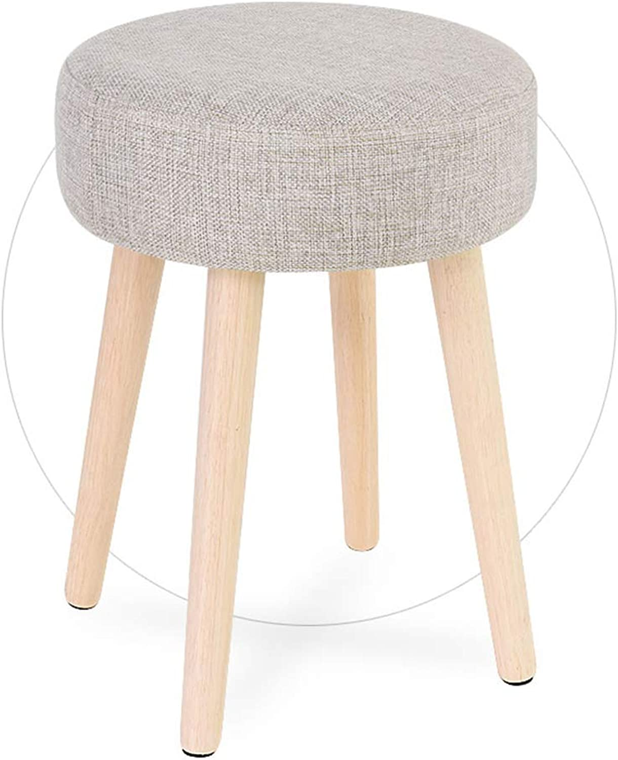 Stool Wood,Bar Bistro Kitchen Dining Chairs Round Wood Seat Breakfast Chairs Ergonomic Modern Comfortable Solid Wood Legs Wooden Legs Simple and Casual Executive Office Task Stool