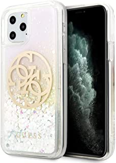 CG Mobile Pc/TPU Hard Case for iPhone 11 Pro Cell Phone Cover Glitter Circle Pink/Gold Shock Absorption Case Officially Li...