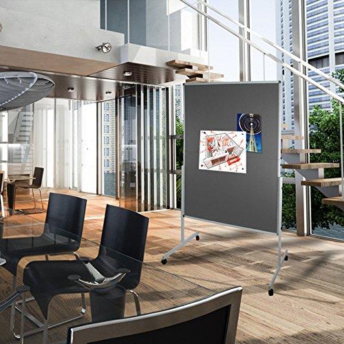 Moderationstafel Filz | klappbar | mit Rollen | 120x150cm | Farbe wählbar (grau) - 6