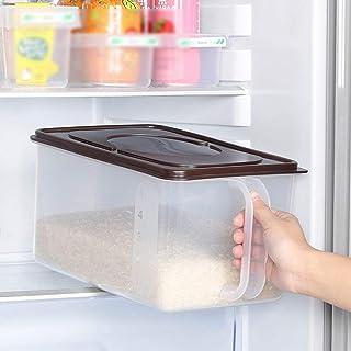 MU Ménage Boîte de Rangement Portable Rectangle en Bois Massif Rectangle Grande capacité Réfrigérateur Classification des ...