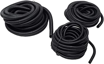 20 Ft Split Loom 1/4 3/8 1/2 Black Wire Harness Wrap Cover Sleeve Conduit