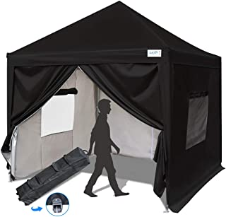 Quictent Privacy 10x10 EZ Pop Up Canopy Tent Instant Canopy Folding Party Tent with Sidewalls and Mesh Windows Waterproof -8 Colors