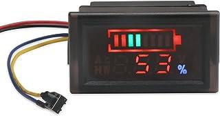 Waterproof LED Capacity Tester for 12V//24V//36V//48V Lead-acid Cell Lithium Battery DROK 200073 2in1 Battery Monitor Digital Voltmeter Tester for Electromobile DC6-120V Volts Meter Panel