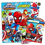 Marvel Spiderman Imagine Ink Coloring Book Set -- 1 Mess-Free Book, 1 Coloring Book, Stickers, Mess Free Pen (Spiderman Party Supplies)