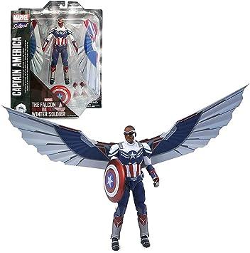 Disney Marvel Select Diamond Sam Wilson Captain America Collector Edition Action Figure