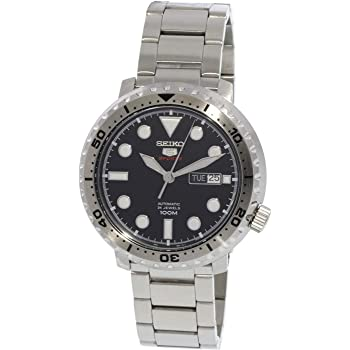 Seiko 5 Sports 100m Automatic 'Bottle Cap' Steel Watch SRPC61K1
