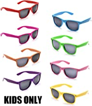 Neon Colors Party Favor Supplies Unisex Sunglasses Pack of 8 for Kids (8 Pack Mix)