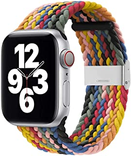 Strap / Band Compatible With Apple Watch Replacement Band 42/44mm Series SE/6/5/4/Soft Polyester Breathable Braided with A...
