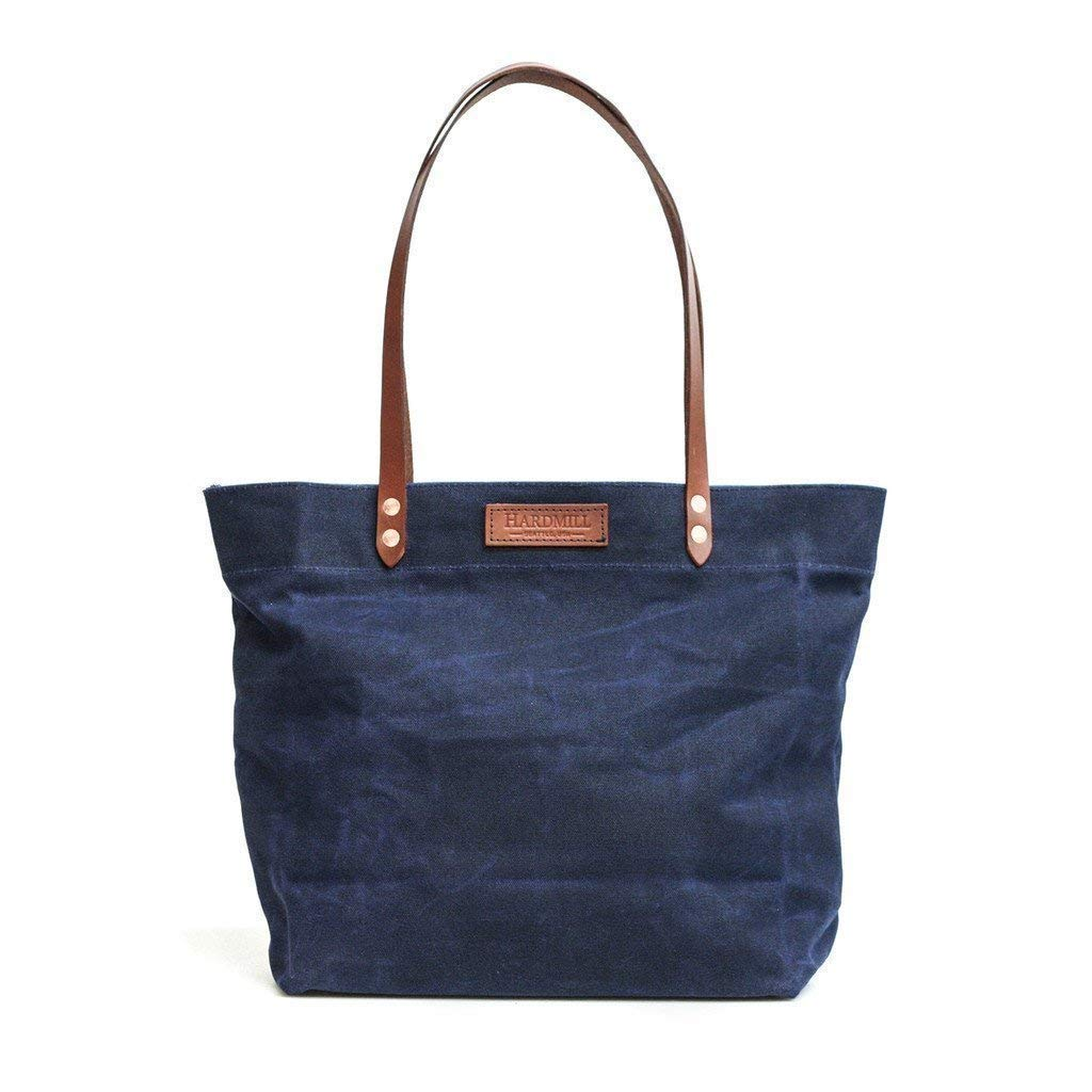 Market Tote - Waxed Canvas USA Navy Under blast sales in Made Recommended