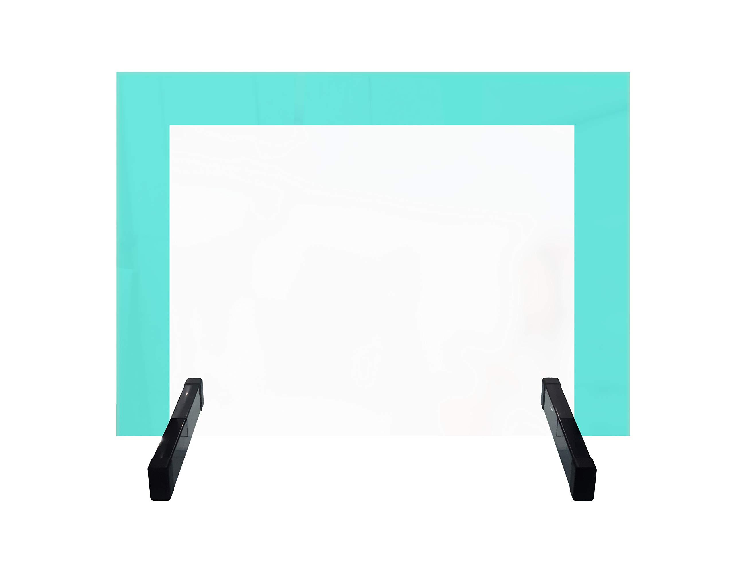 Protector de Cristal templado con bordes magnéticos - Mampara separadora para mesas en colegios, oficinas, despachos etc: Amazon.es: Oficina y papelería