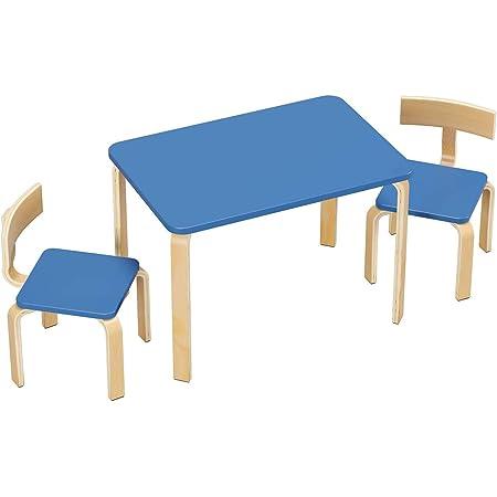 Homfa Tavolino Pittura Scrivania Per Bambini Da Gioco Con 2 Sedie In Legno 78 2x53 2x53 2cm Azzurro Amazon It Prima Infanzia