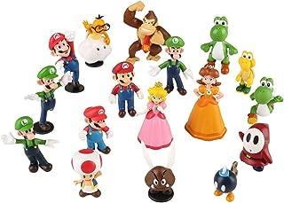 18pcs/Set Piece Super Mario Bros Super Mary Princess, Turtle, Mushroom, Orangutan, Super Mary Action Figures,1.2