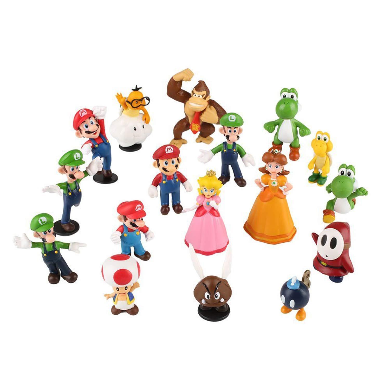 Orangutan,Toys Cake Toppers Collection Playset HFZXM 18 pcs PVC Super Mario Bros Super Mary Princess Mushroom Turtle 1.8-2.6 inch