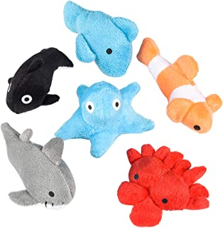 Rhode Island Novelty 3 Inch Sea Life Plush Toys Bag of 24 Pieces