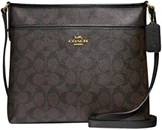 Coach Signature Zip File Crossbody Bag
