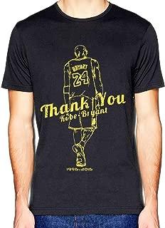 Casual Thank You Kobe Retired Mamba Out Memorial Black Short Sleeved T-Shirt Men's Sport Tee Shirt Tops