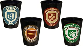 Call of Duty Ops III Perks Shot Glass, Black, Set of 4