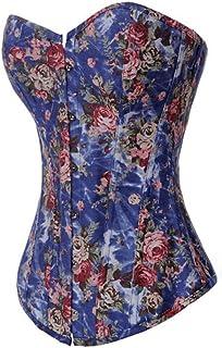Alivila.Y Fashion Corset Women's Sexy Vintage Floral Denim Corset
