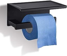 GEMITTO Toiletrolhouder, SUS304 roestvrij stalen wandhouder, rol toiletpapierhouder voor toilet, badkamer, keuken Square R...