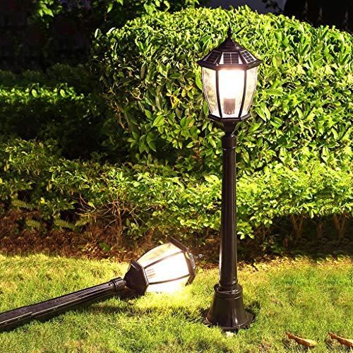 XLOO Kandelaber Aluguß Garten Laterne,Außenleuchte Gartenleuchte,Wegeleuchte/Stehleuchte,Dämmerungssensor,wasserdichte energiesparende, ideal für Terrasse, Rasen, Garten und Wege