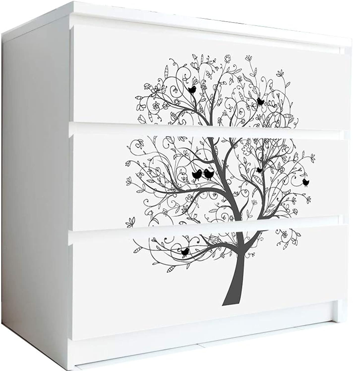 Life Tree PVC Wall Murals,Self Adhesive Wall Decals Suitable for Living Room