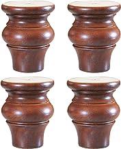 Massief houten kaststeunpoten, meubelsteunpoten, sofa verhoogde poten, tafelsteunpoten, een set van vier, hoog draagvermog...