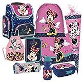 Minnie Maus 9 Teile Mouse Disney Schulranzen RANZEN Federmappe Tasche Tornister Schultüte Set mit Sticker von kids4shop