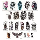 maple uk 20 sheets temporary tattoos for adults men women temporary tattoo stickers kit water transfer tattoo stickers fake tattoos fashion body art stickers 33 individual piece