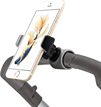 Emmzoe Smartphone Handlebar Mount for Stroller Buggy Pram, Shopping Carts, Bikes - Fits iPhone Xs, XS Max, X, 8 8 Plus, 7 7 Plus, Galaxy S9 Note9 and More